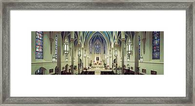 Interiors Of A Cathedral, St. Marys Framed Print by Panoramic Images