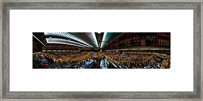 Interiors Of A Financial Office Framed Print