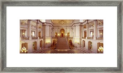 Interiors Of A Government Building Framed Print by Panoramic Images
