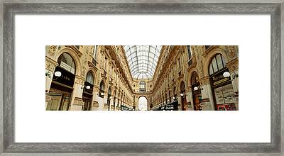 Interiors Of A Hotel, Galleria Vittorio Framed Print by Panoramic Images