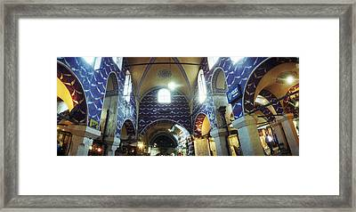 Interiors Of A Market, Grand Bazaar Framed Print by Panoramic Images