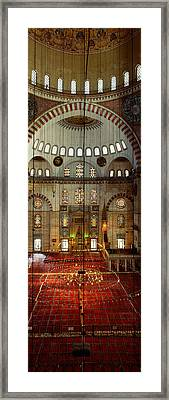 Interiors Of A Mosque, Suleymanie Framed Print