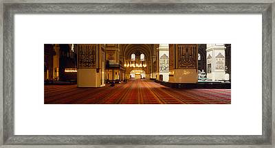 Interiors Of A Mosque, Ulu Camii Framed Print