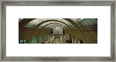 Interiors Of A Museum, Musee Dorsay Framed Print