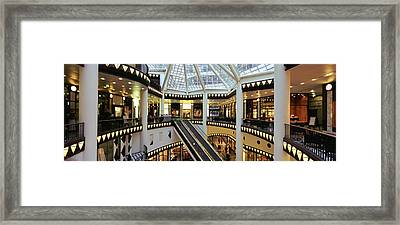 Interiors Of A Pei Pasage Framed Print by Panoramic Images