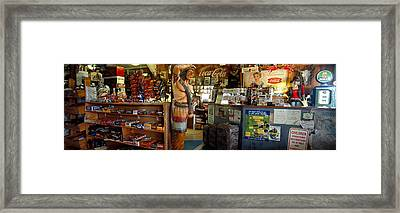 Interiors Of A Store, Route 66 Framed Print by Panoramic Images
