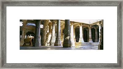 Interiors Of A Temple, Jain Temple Framed Print