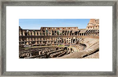 Interiors Of An Amphitheater, Coliseum Framed Print
