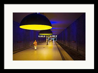 U-bahn Framed Prints