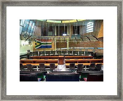 Interiors Of Constitutional Court Framed Print by Panoramic Images
