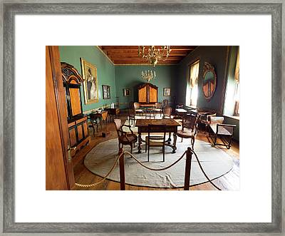 Interiors Of Original Building Framed Print