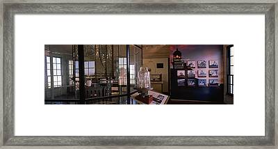 Interiors Of Point Loma Lighthouse Framed Print