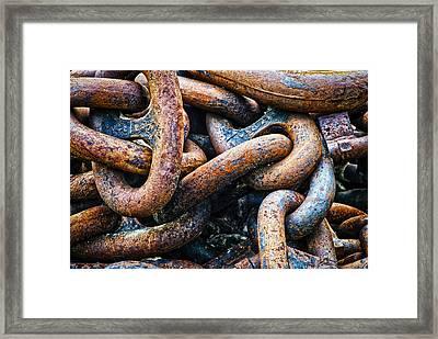 Interlocked Framed Print
