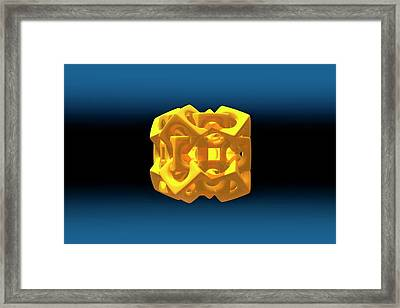 Interlocking Cubes Framed Print by Carol & Mike Werner