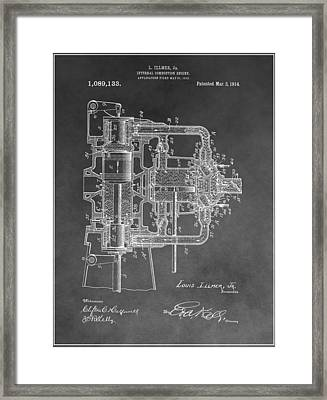 Internal Combustion Engine Framed Print by Dan Sproul
