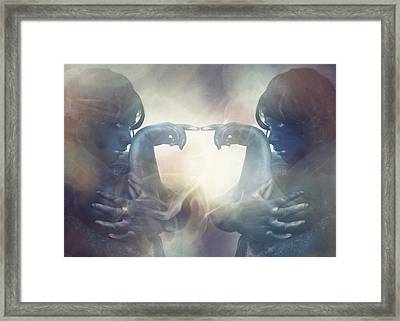 Internal Conflict Framed Print by Eating Strawberries