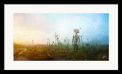 Floating Flowers Framed Prints