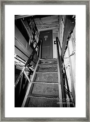 Internal Stairways Of Uss Intrepid At The Intrepid Sea Air Space Museum  Framed Print