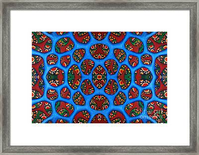 Internalscape Triptych Design Framed Print