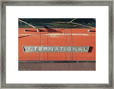 International Framed Print