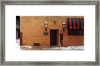 International Exports Ltd Secret Entrance To The Safe House In Milwaukee Framed Print by David Blank