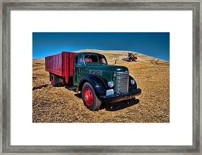 International Farm Truck Framed Print
