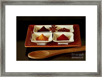 International Flair  Spice It Up Framed Print by Inspired Nature Photography Fine Art Photography