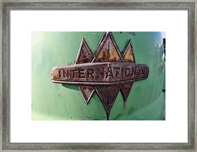 International Harvester Insignia Framed Print by Daniel Hagerman
