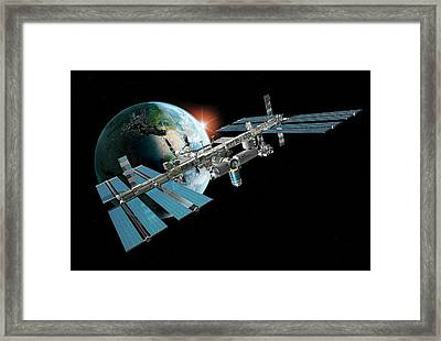 International Space Station Framed Print by Carlos Clarivan