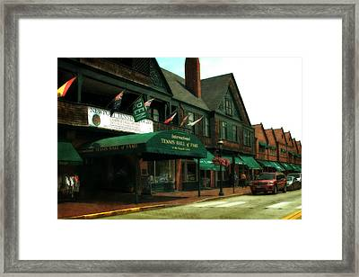 International Tennis Hall Of Fame Framed Print by Michelle Calkins