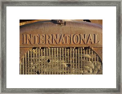 International Truck Emblem Framed Print by Mike McGlothlen