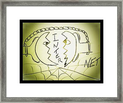 Internet Framed Print by Beto Machado