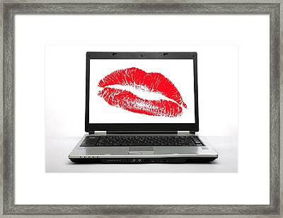 Internet Dating, Conceptual Image Framed Print by Science Photo Library