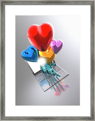 Internet Dating Framed Print by Victor Habbick Visions