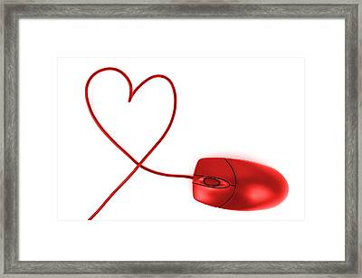 Internet Love Framed Print