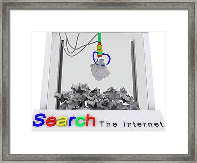 Internet Search Engine Framed Print by Christian Darkin