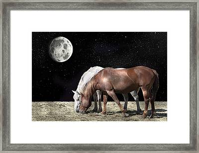 Interplanetary Horses Framed Print by Daniel Hagerman
