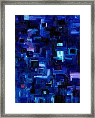 Interplay Blue Framed Print
