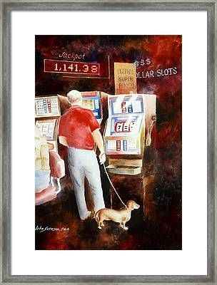 Framed Print featuring the painting Interrupted Walk by John  Svenson