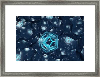 Intersecting Dodecahedron Framed Print
