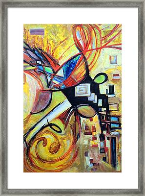 Framed Print featuring the painting Intersections by Mary Schiros
