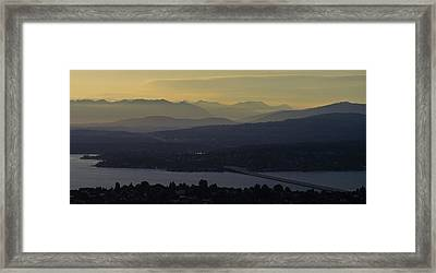 Interstate 90 Morning Light Layers Framed Print by Mike Reid