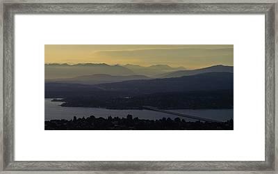 Interstate 90 Morning Light Layers Framed Print