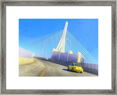 Interstate 93 In Boston Framed Print by Rick Mosher