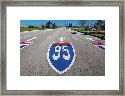 Interstate 95 Road Sign Framed Print