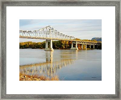 Interstate Bridge In Winona Framed Print