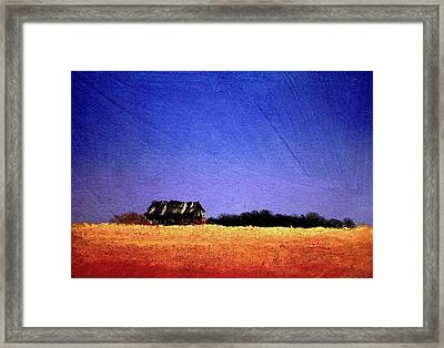 Framed Print featuring the painting Interstate Landscape #1 by William Renzulli