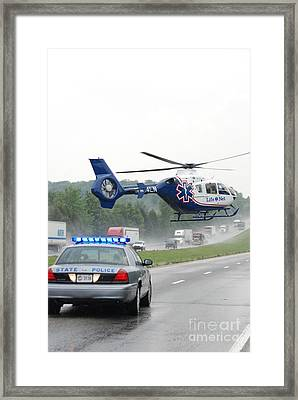 Interstate Rescue Framed Print by Steven Townsend