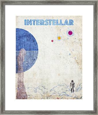 Interstellar Retro Poster Framed Print by Decorative Arts