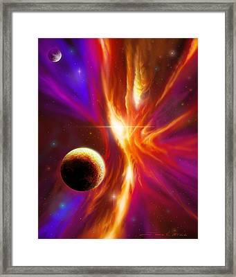 Intersteller Supernova Framed Print by James Christopher Hill
